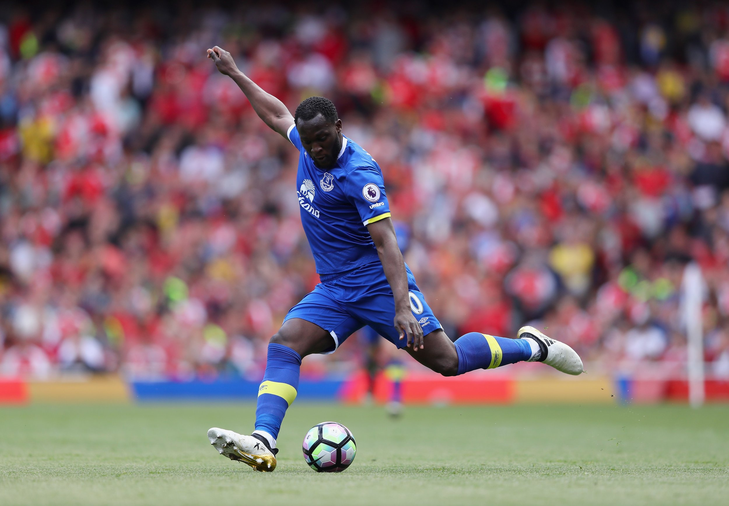 Everton striker Romelu Lukaku.