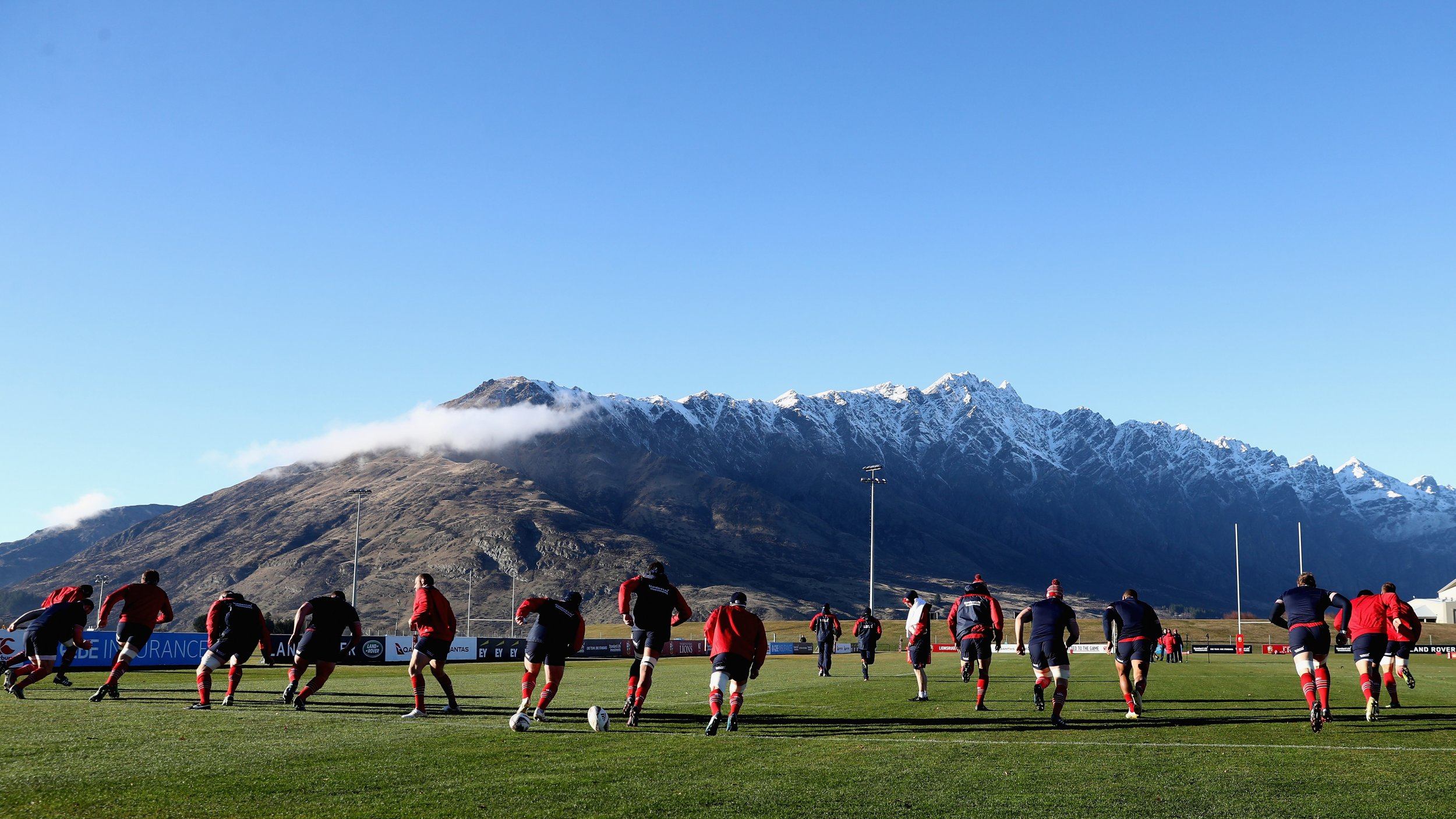 The British and Irish Lions training at Queenstown Event Centre, New Zealand, July 5.