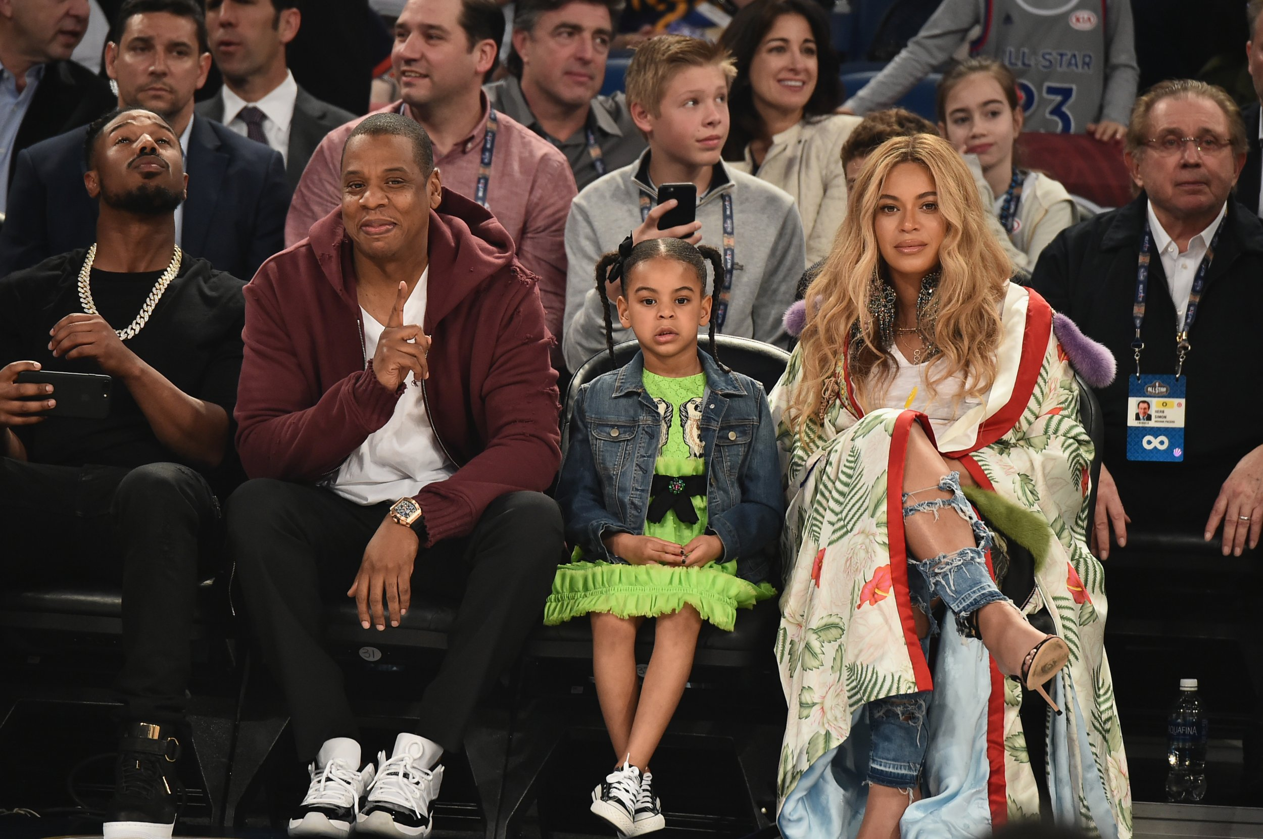 Blue Ivy Carter, Beyonce and Jay-Z