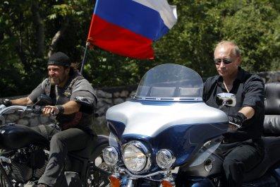 Putin on bike