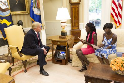 Trump with Chibok girls