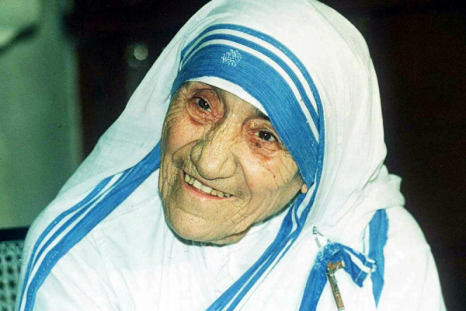 Saint Teresa's famous blue and white ribbed sari is officially trademarked