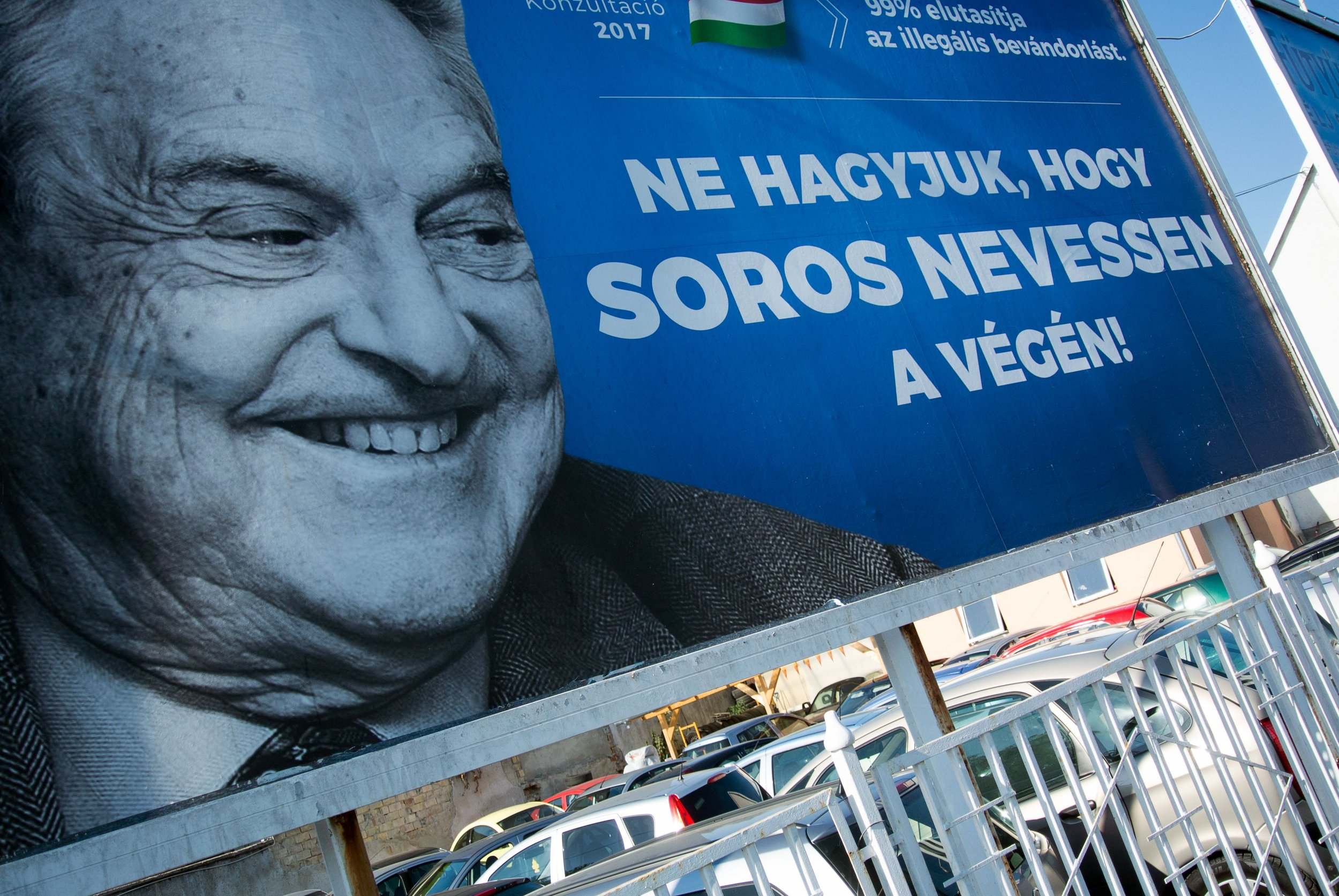 Hungary's George Soros posters