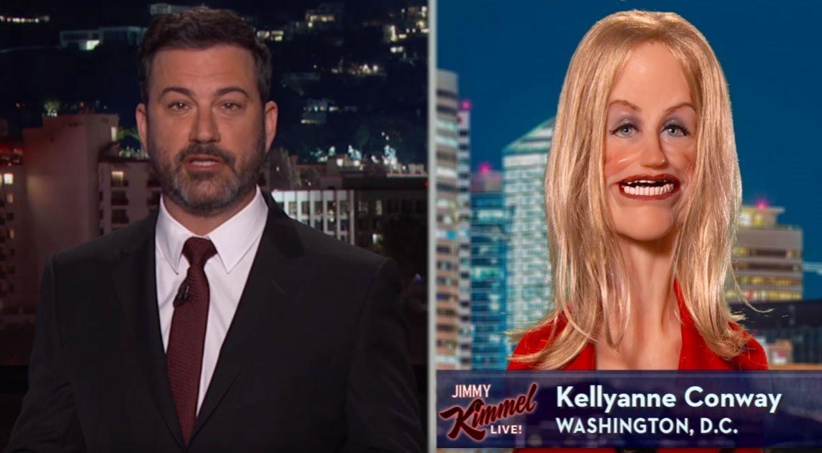 Jimmy Kimmel talks to Kellyanne Conway