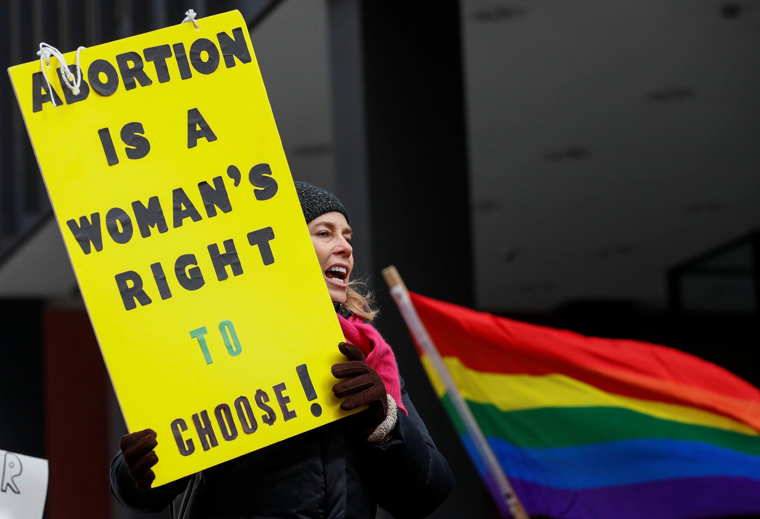 Trump abortion protest