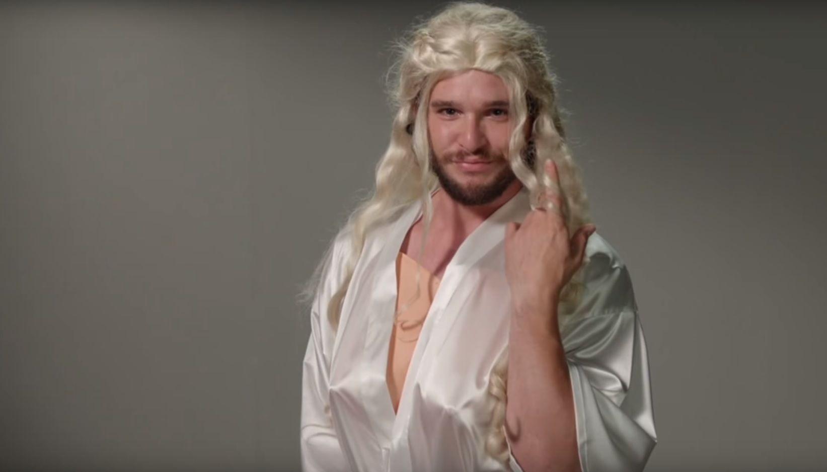 Kit Harington as Daenerys Targaryen in Game of Thrones
