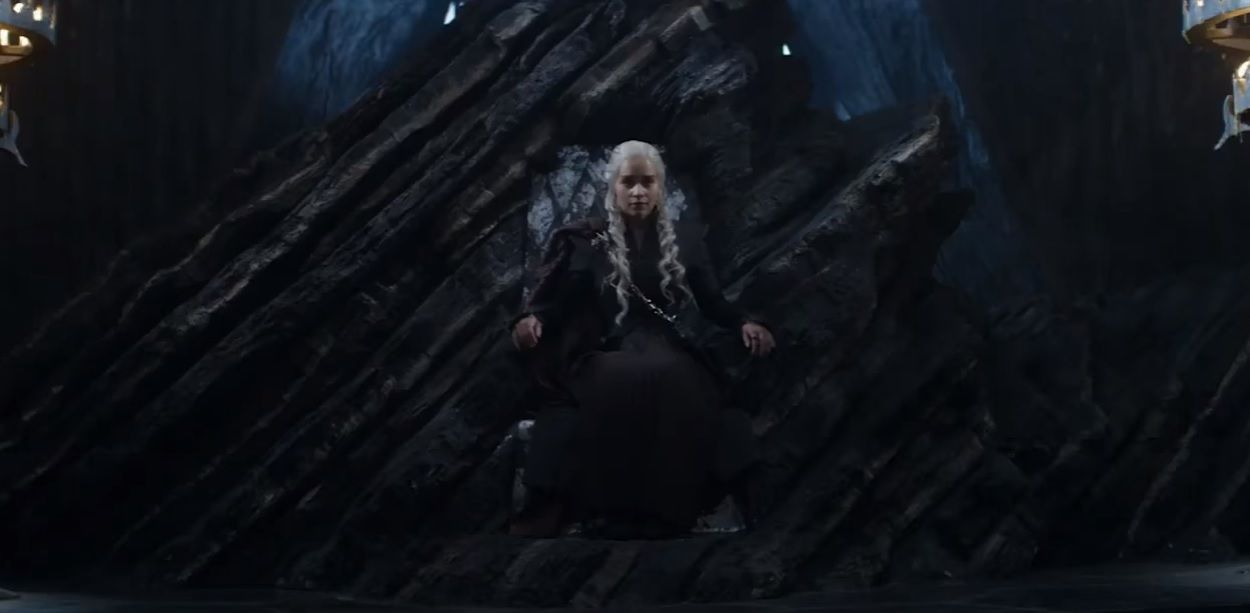 "Daenerys takes the Iron Throne in ""Game of Thrones"" teaser"