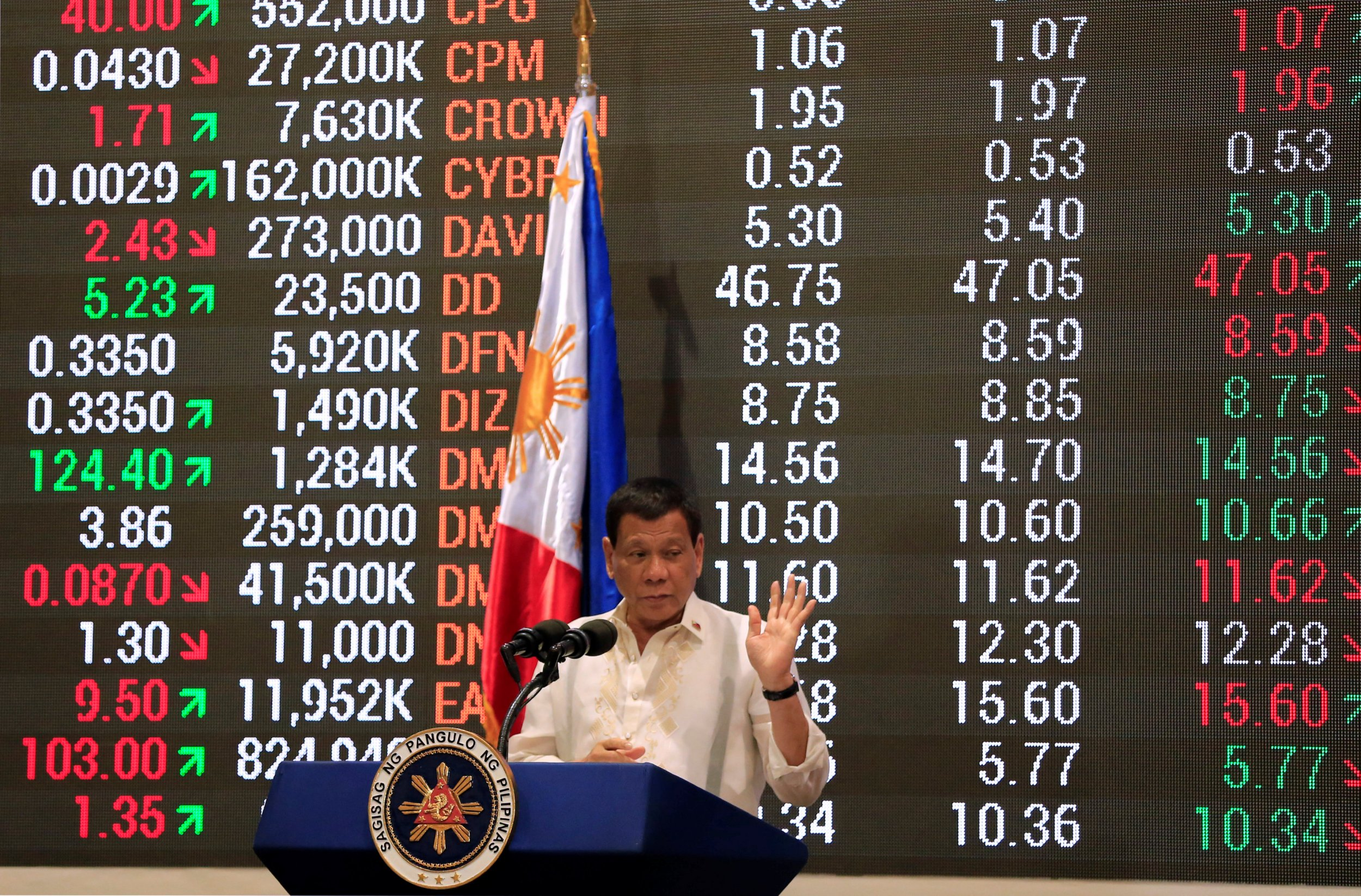 Duterte at PSE in Manila