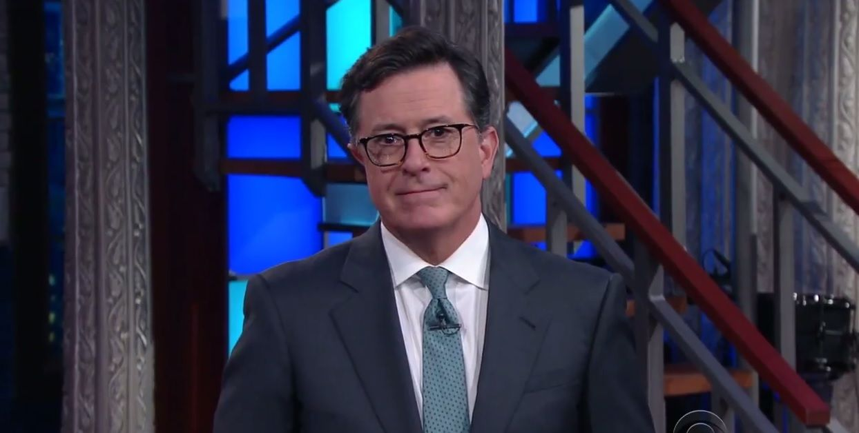 Stephen Colbert apologizes to Donald Trump's son Eric