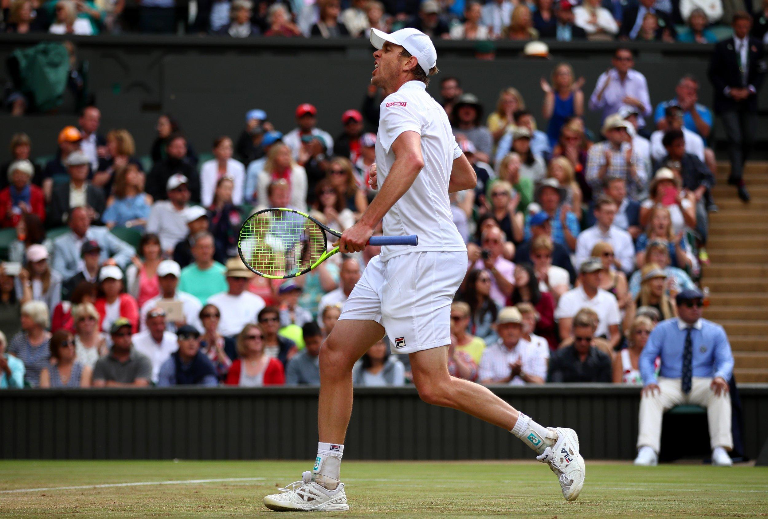 Wimbledon 2017 semifinalist Sam Querrey.