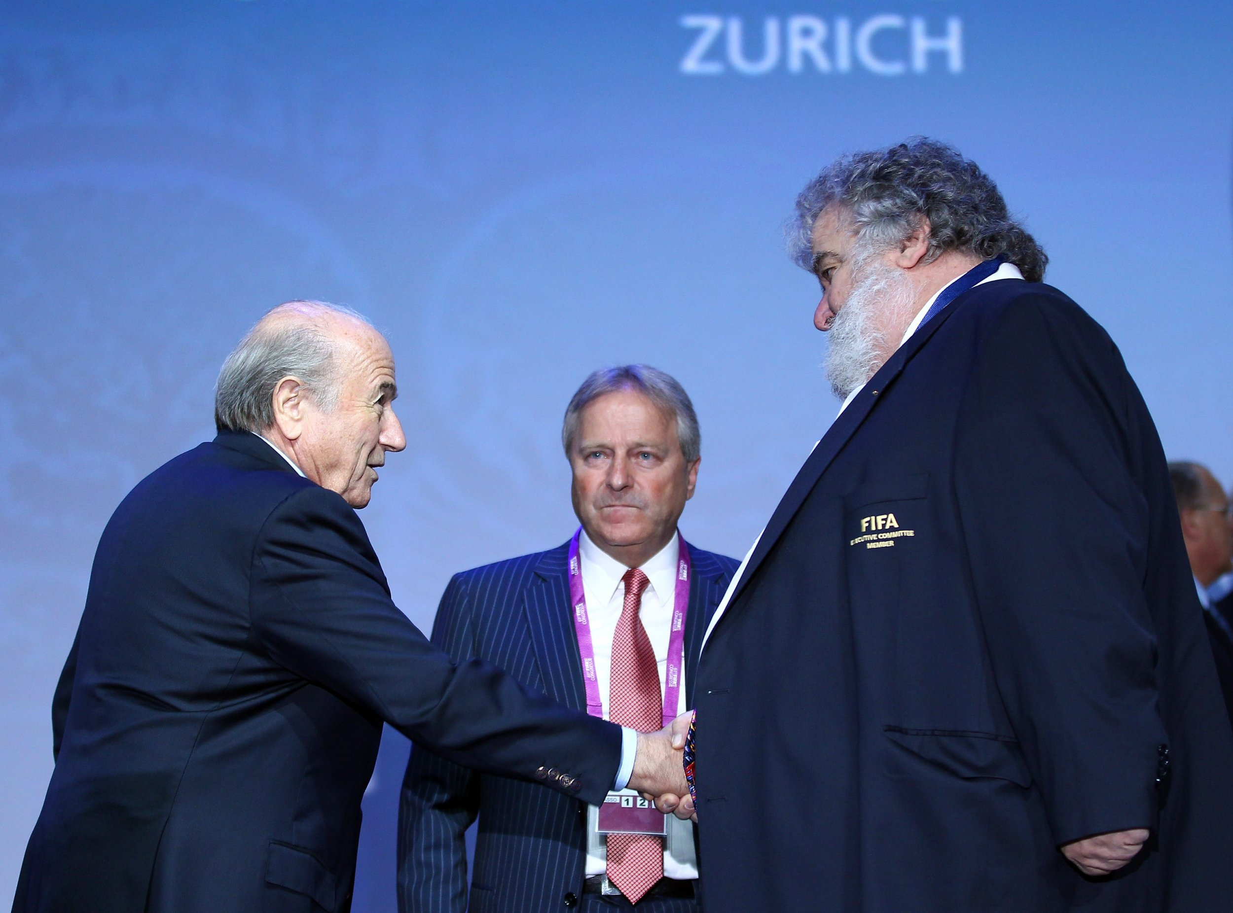 Chuck Blazer, right, with former FIFA president Sepp Blatter.