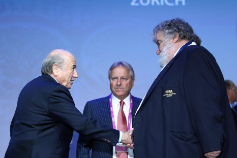 Chuck Blazer, right, with former FIFA president Sepp Blatter.