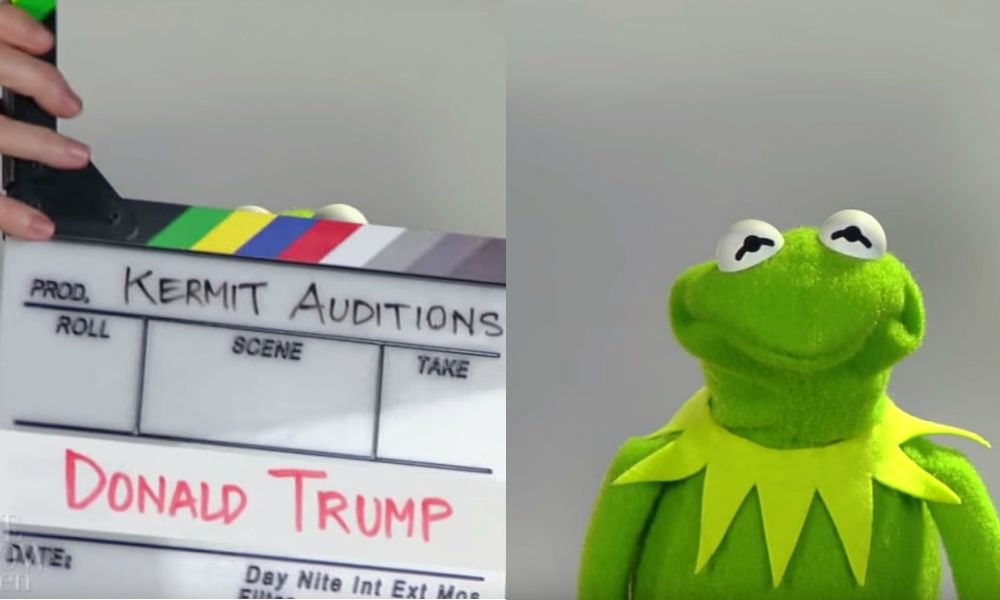 Donald Trump Is Kermit The Frog Watch The President Audition To