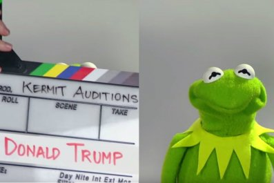 Donald Trump is a Muppet - auditions for Kermit the Frog