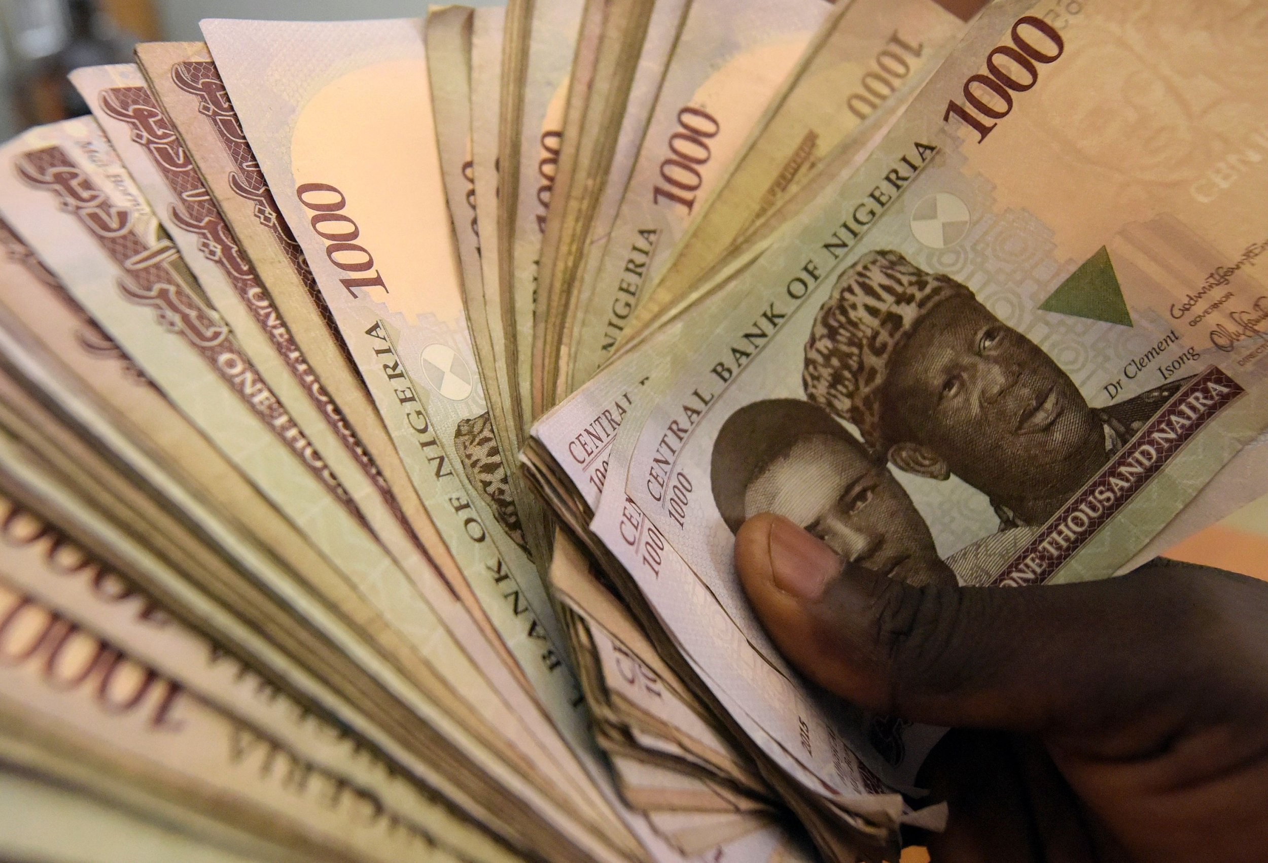 1 000 Naira Banknotes Nigeria S Currency Are Pictured In Lagos On January 29 2016 Pius Utomi Ekpei Afp Getty