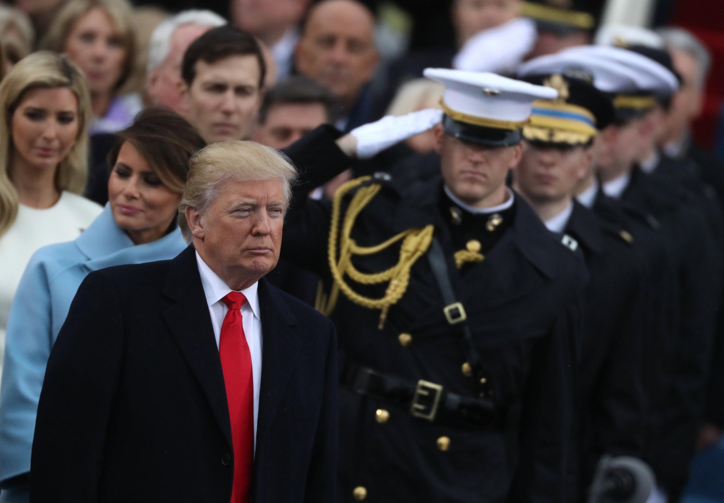 Trump military inauguration