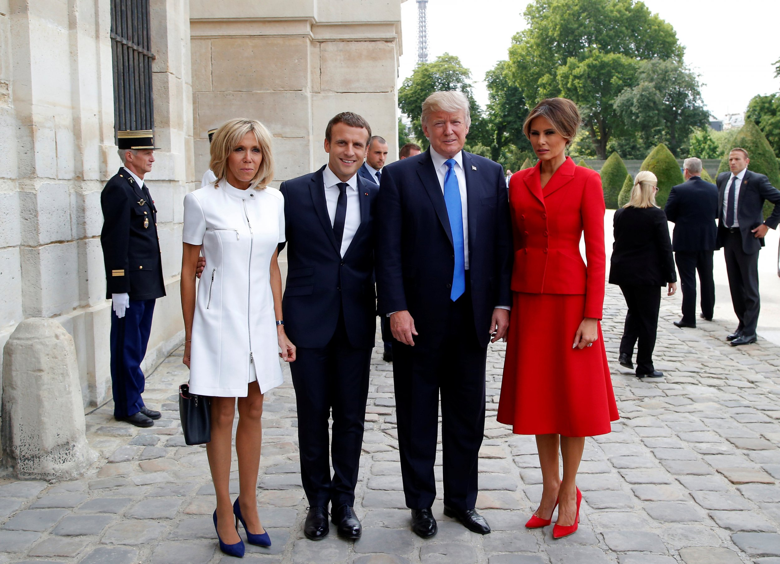 Who Is Brigitte Macron France S First Lady And President Have Reverse Age Gap Of Donald Melania Trump