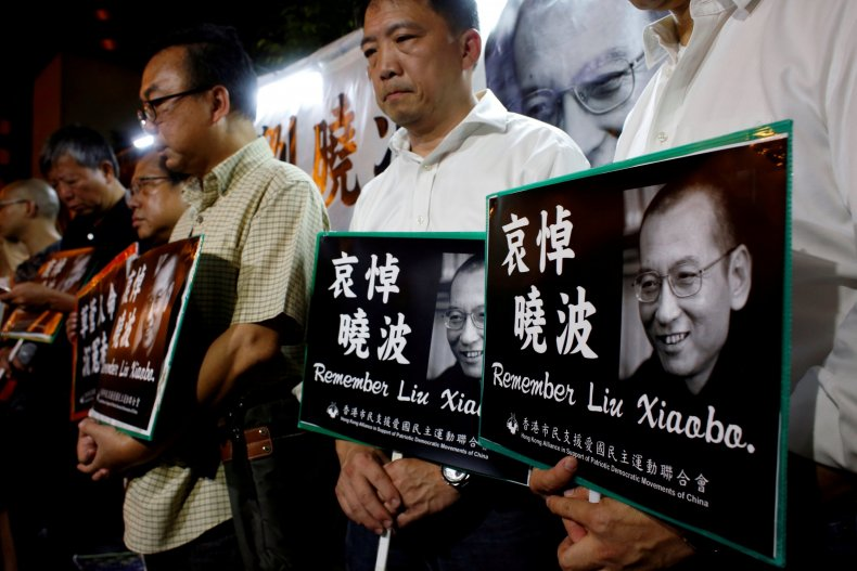 Liu Protest Hong Kong