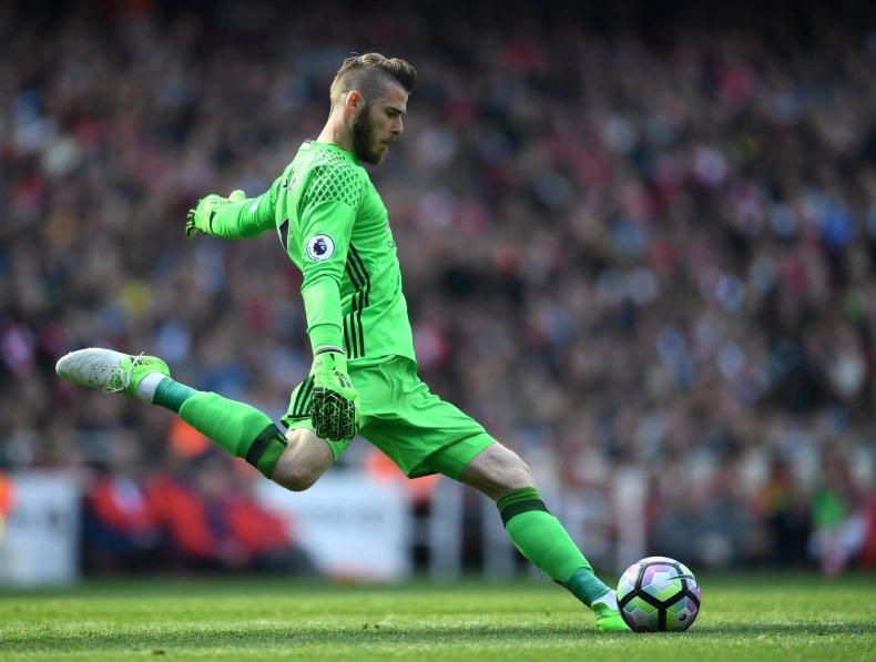 Manchester United goalkeeper David De Gea.
