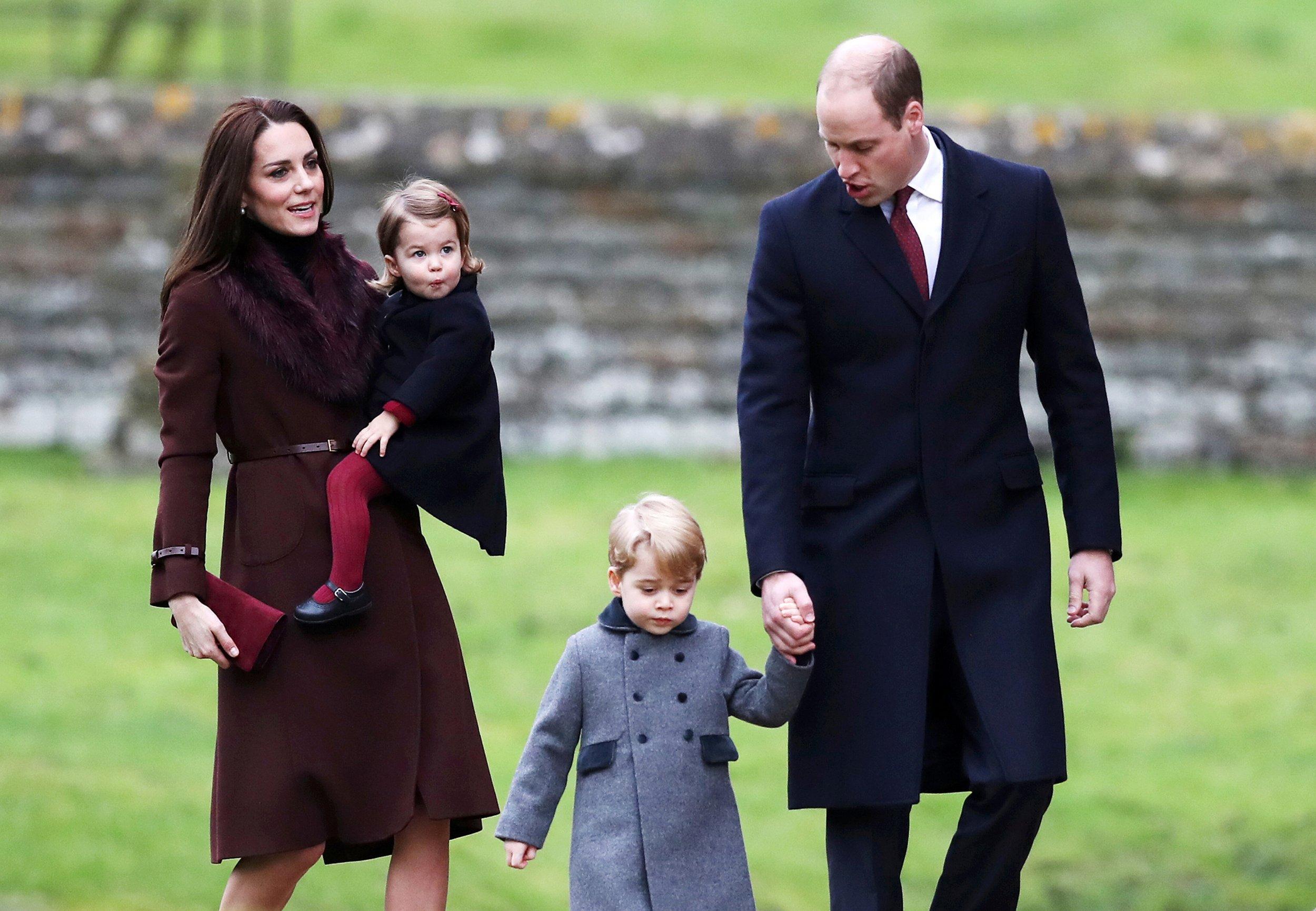 90e245599 Prince William and Kate Middleton Take Prince George and Princess ...