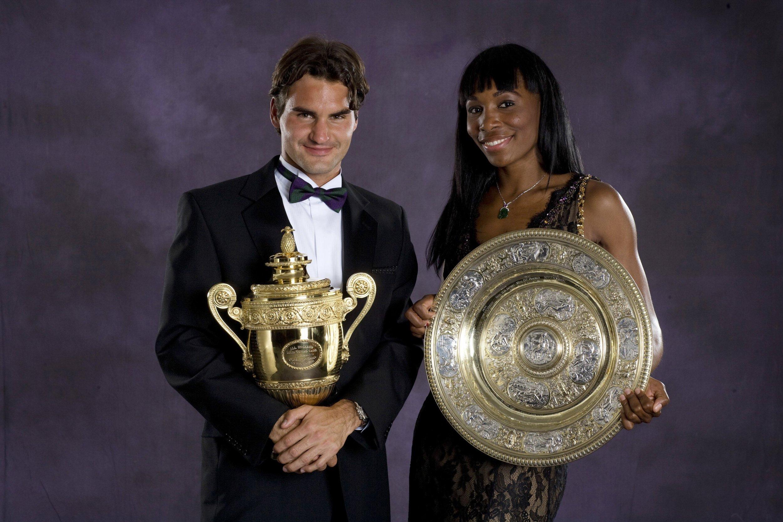 Roger Federer, left, and Venus Williams.