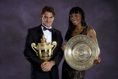 Roger Federer, left, and Venus Williams.