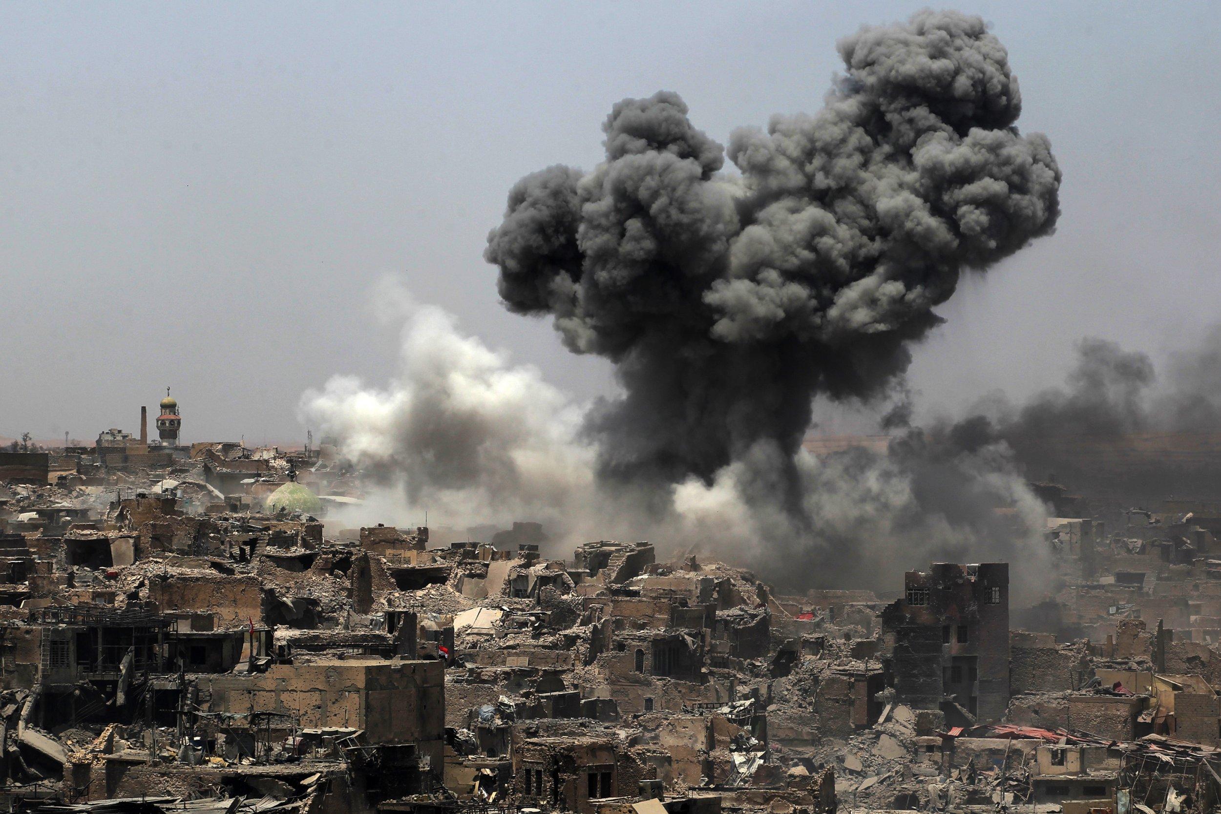 U.S. coalition strikes in Mosul