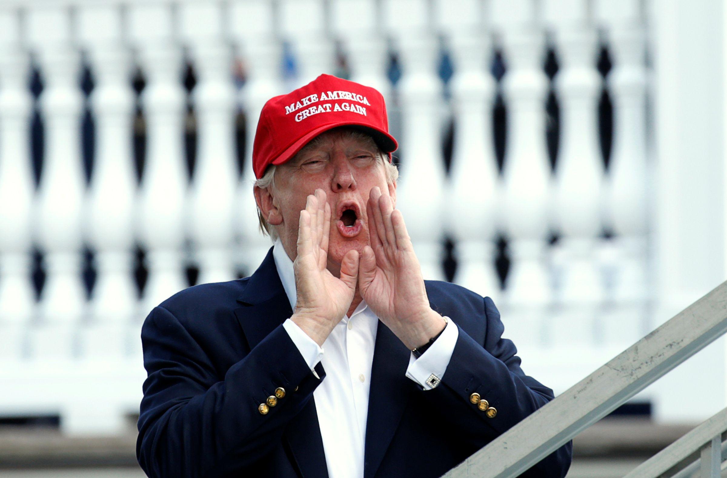Donald Trump at golf tournament