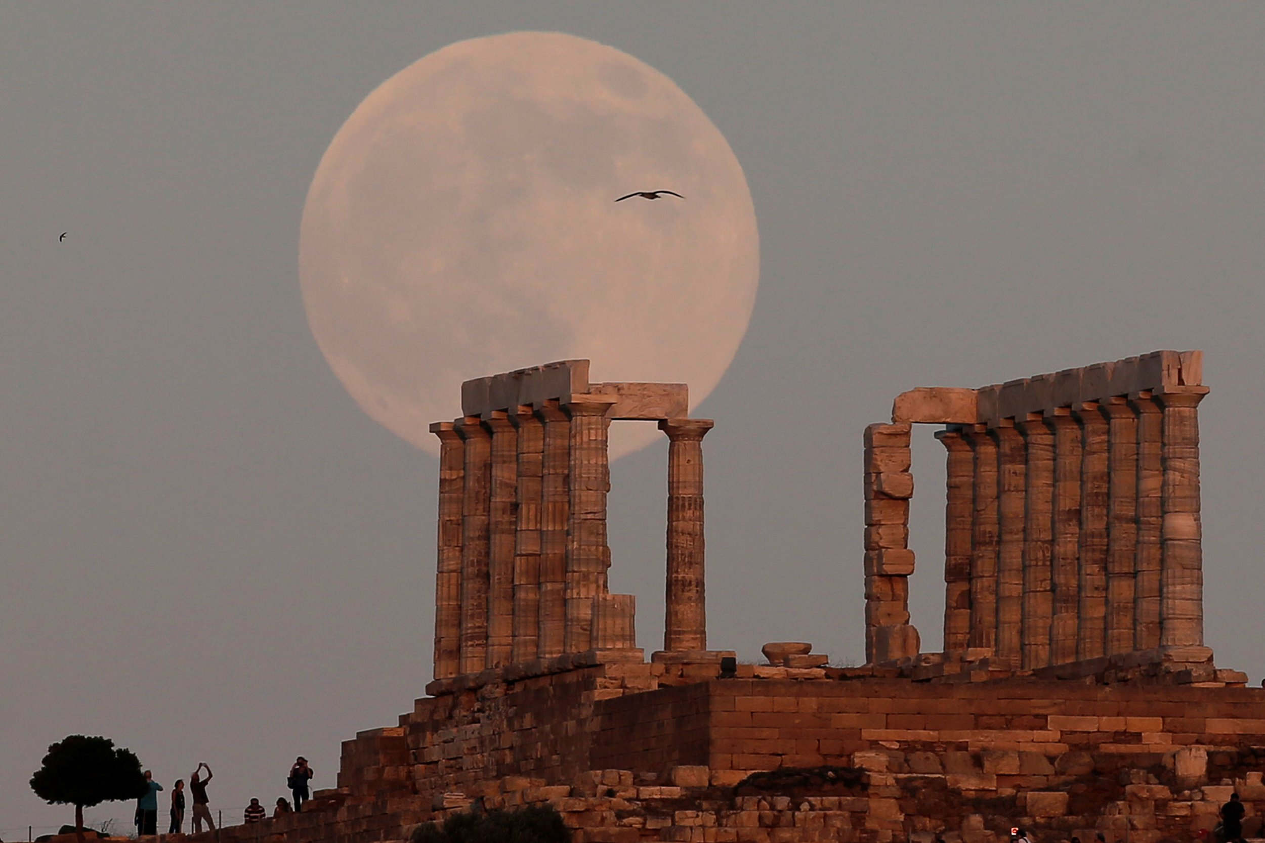 Temple of Poseidon, the ancient Greek god of the seas, east of Athens
