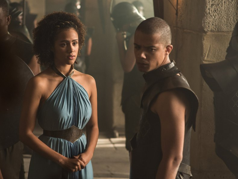 Grey Worm and Missandei in Game of Thrones