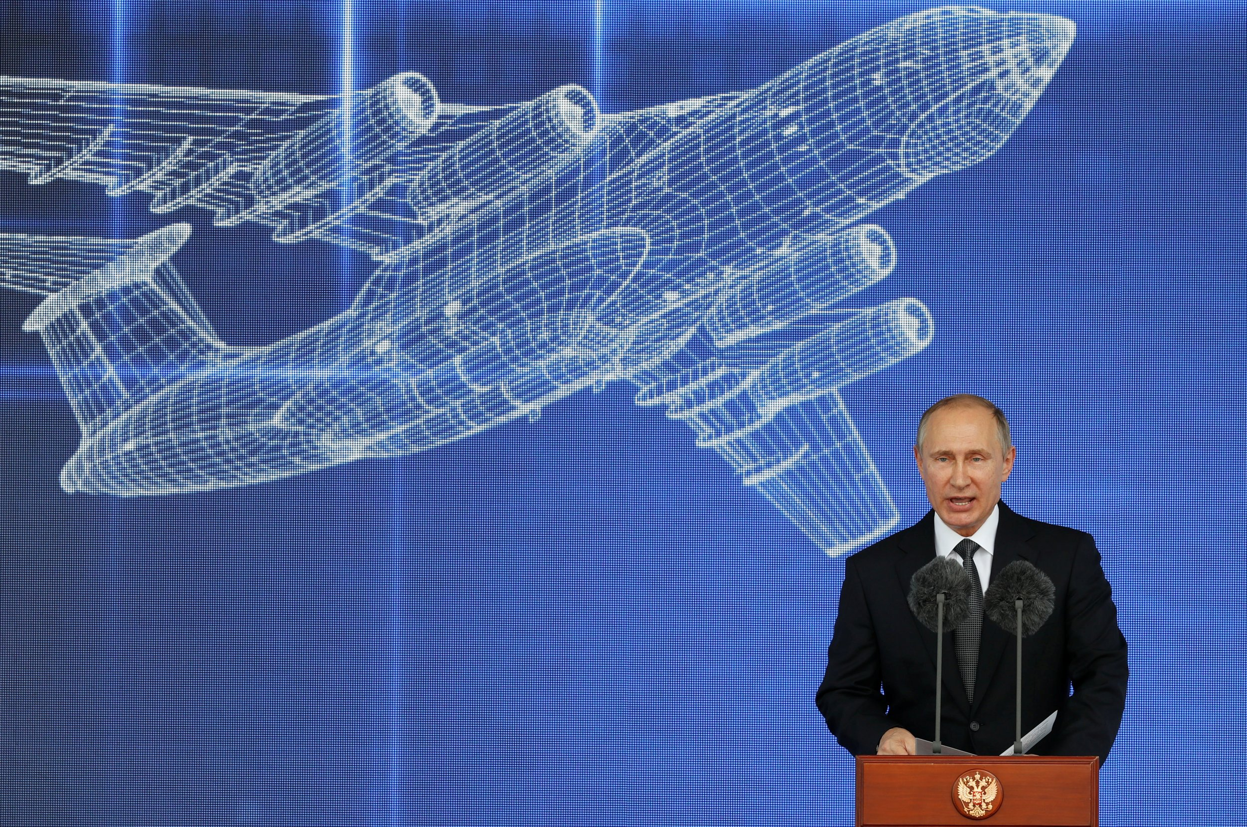 Putin at MAKS