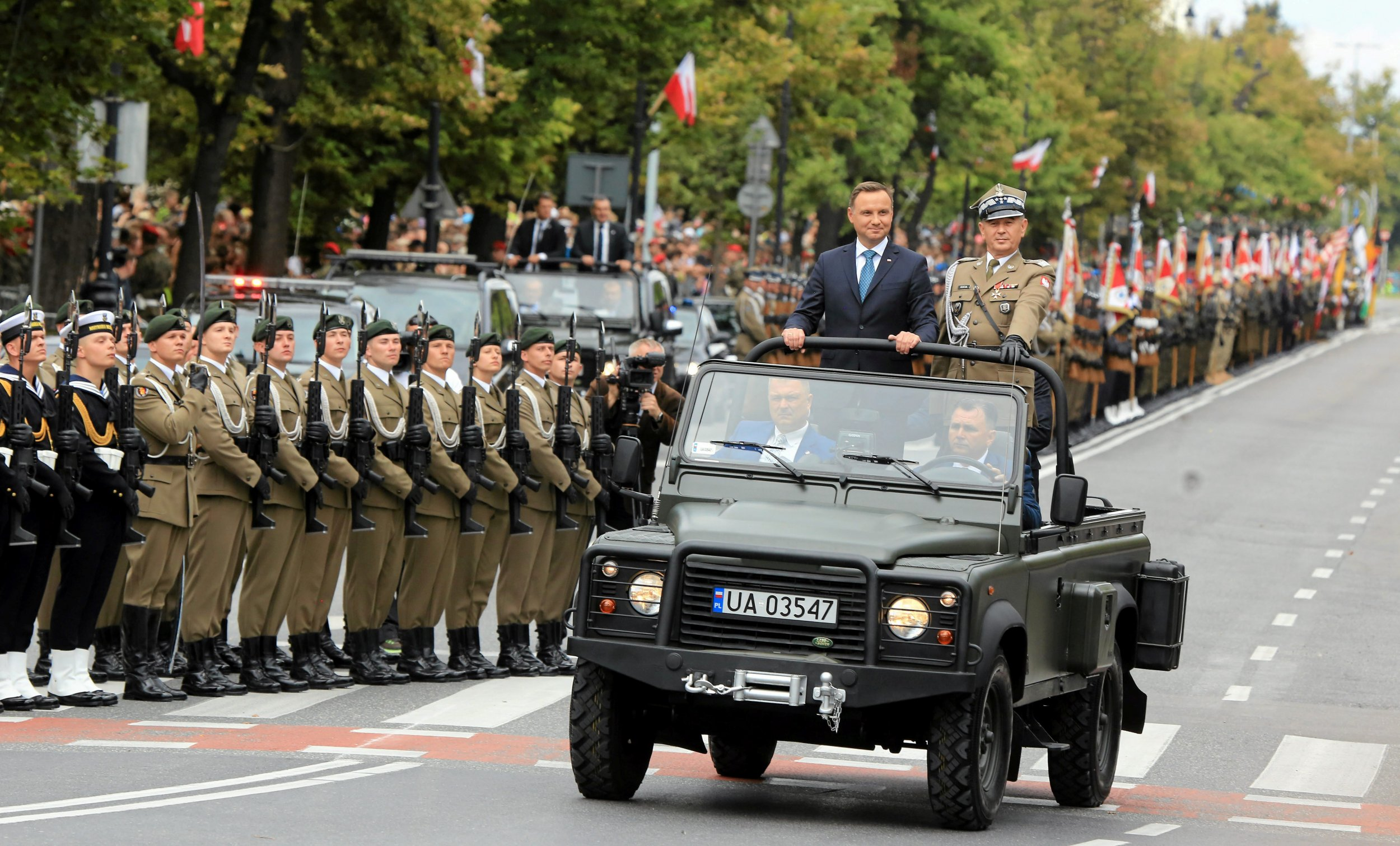 Duda on parade