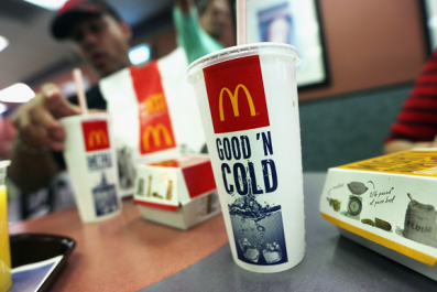Fecal bacteria found in ice a McDonald's, Burger King and KFC