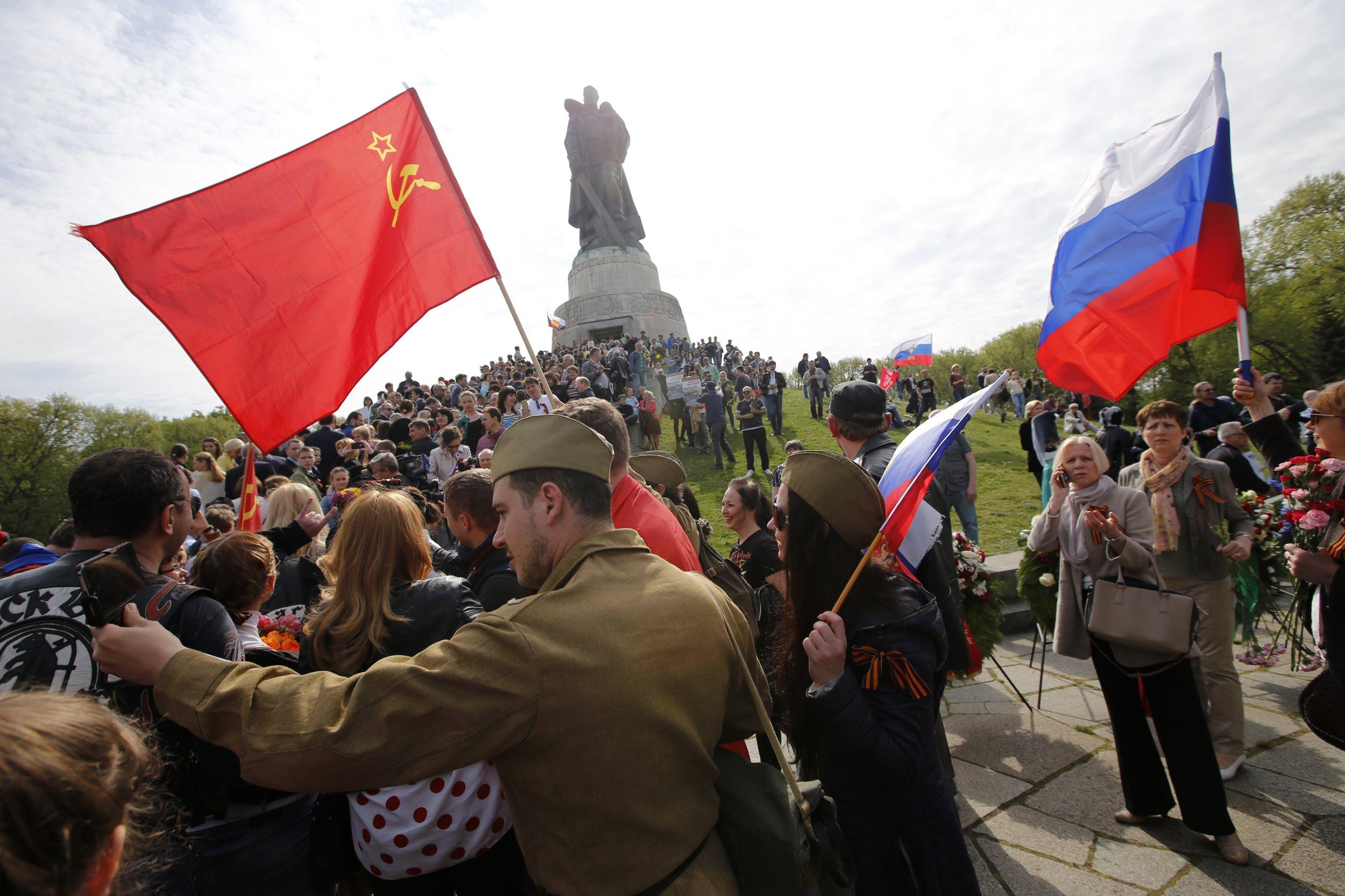 Red Army reenactors