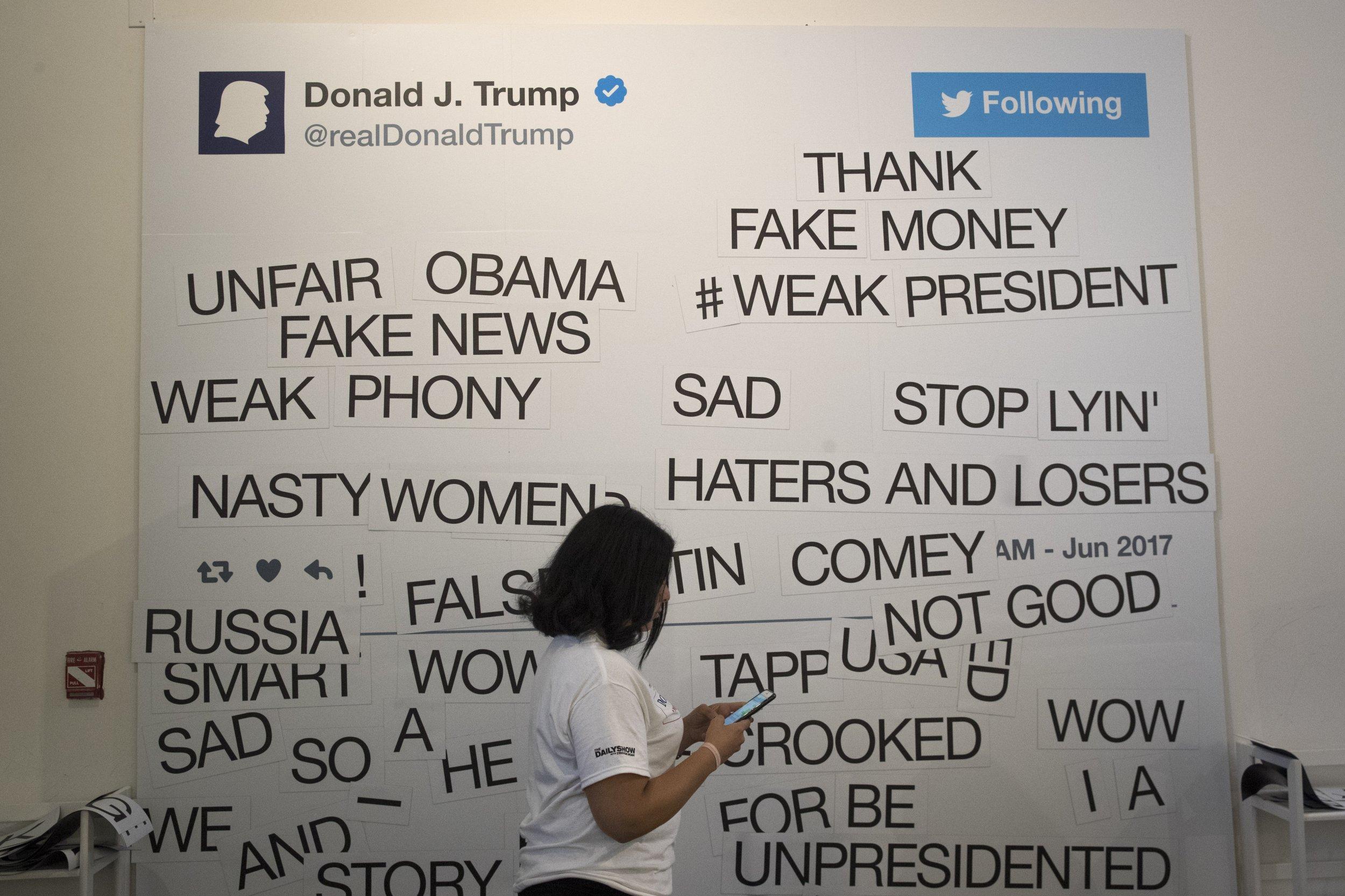 Trump twitter wall