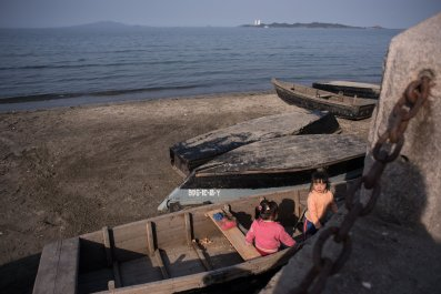 North Korean beach