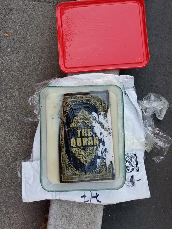 Quran in pork lard