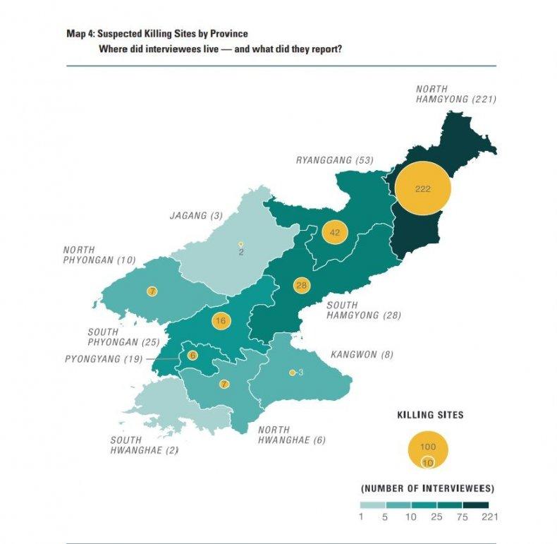 North Korea killing sites