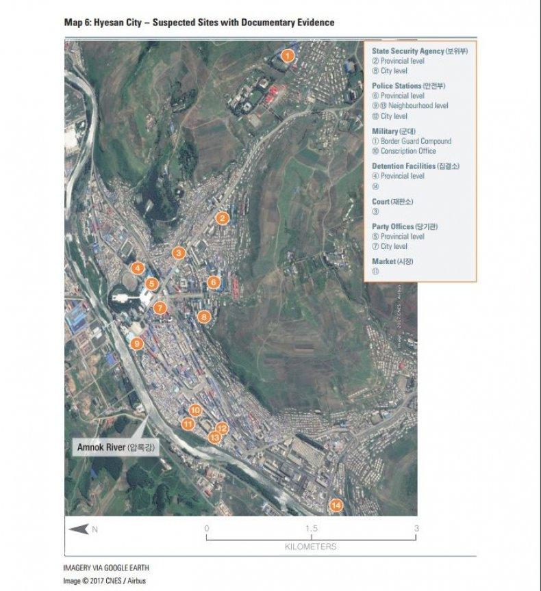 Hyesan City map