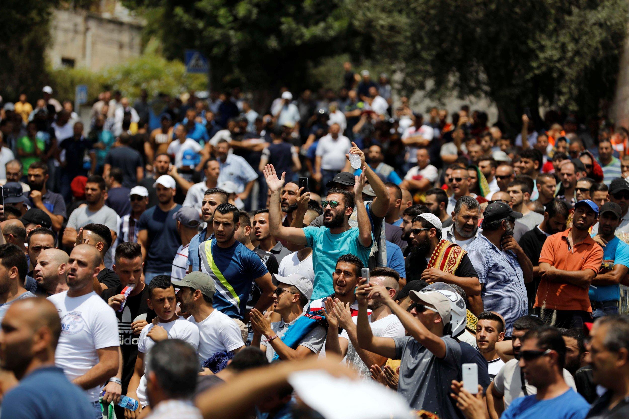 Protesters near Jerusalem's Old City