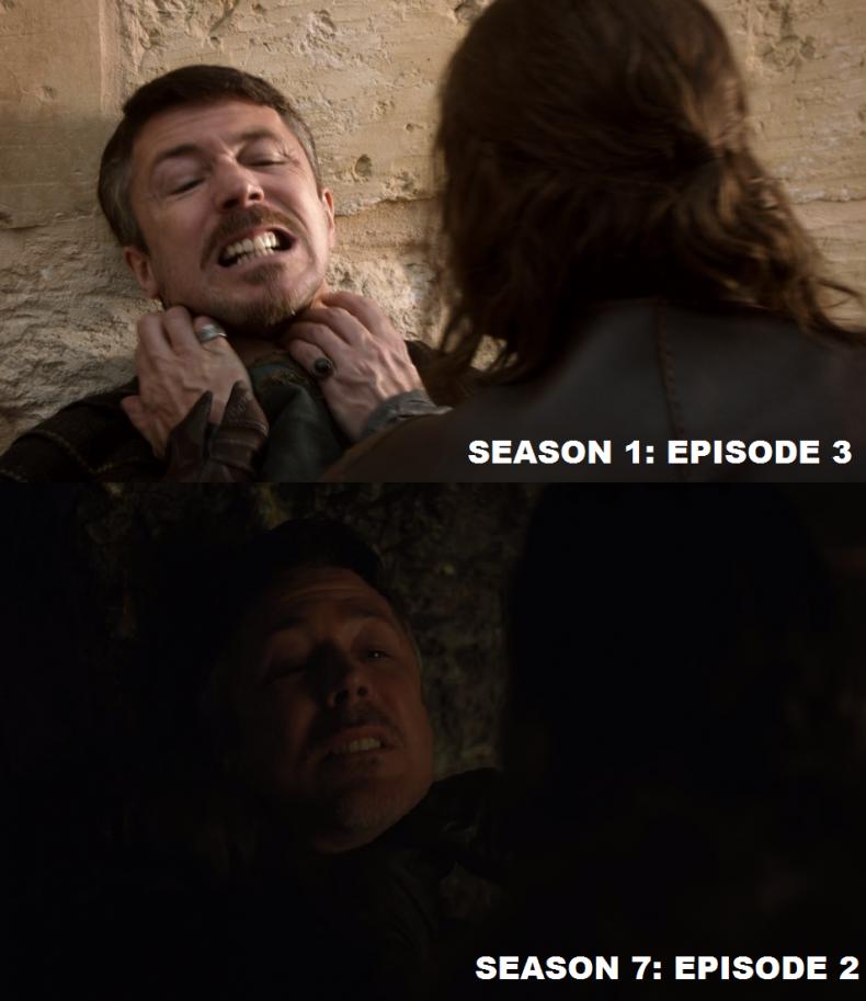 Game of Thrones - Littlefinger choked