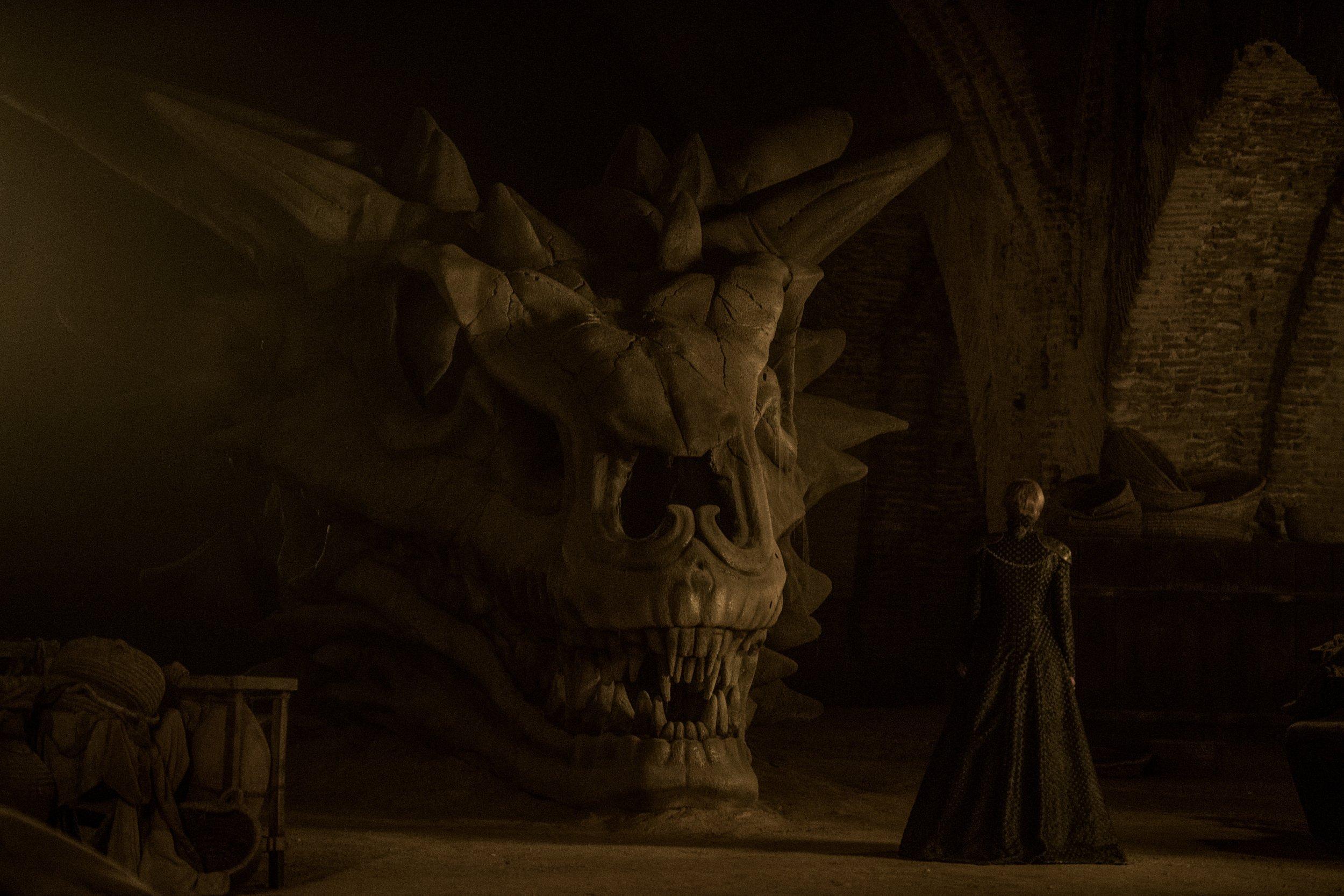 Game of Thrones S7 - Balerion skull