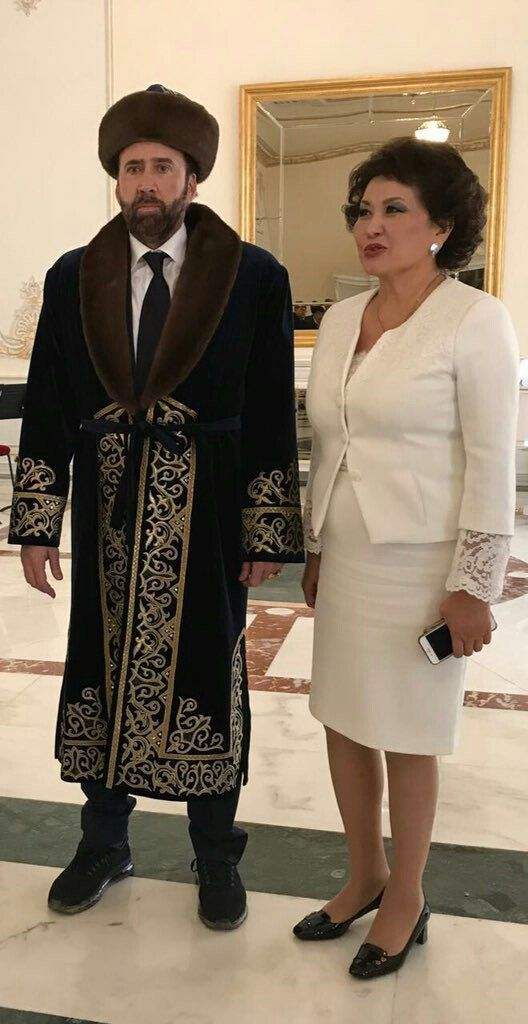 Nicolas Cage Is an Internet Meme Again in a Kazakhstan Outfit