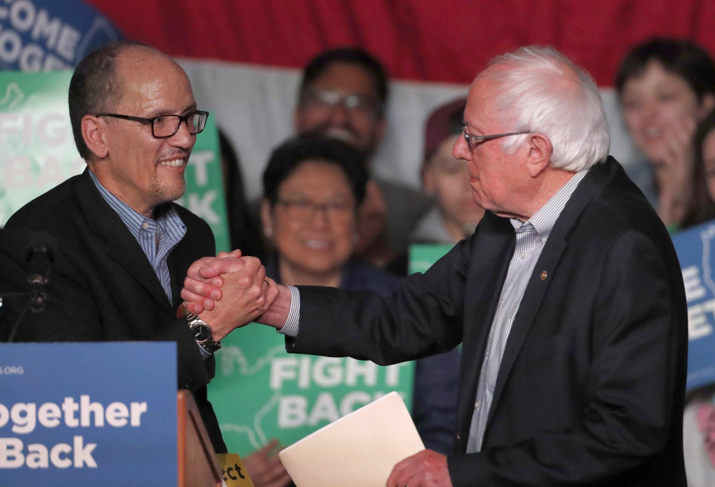 Tom Perez, Bernie Sanders