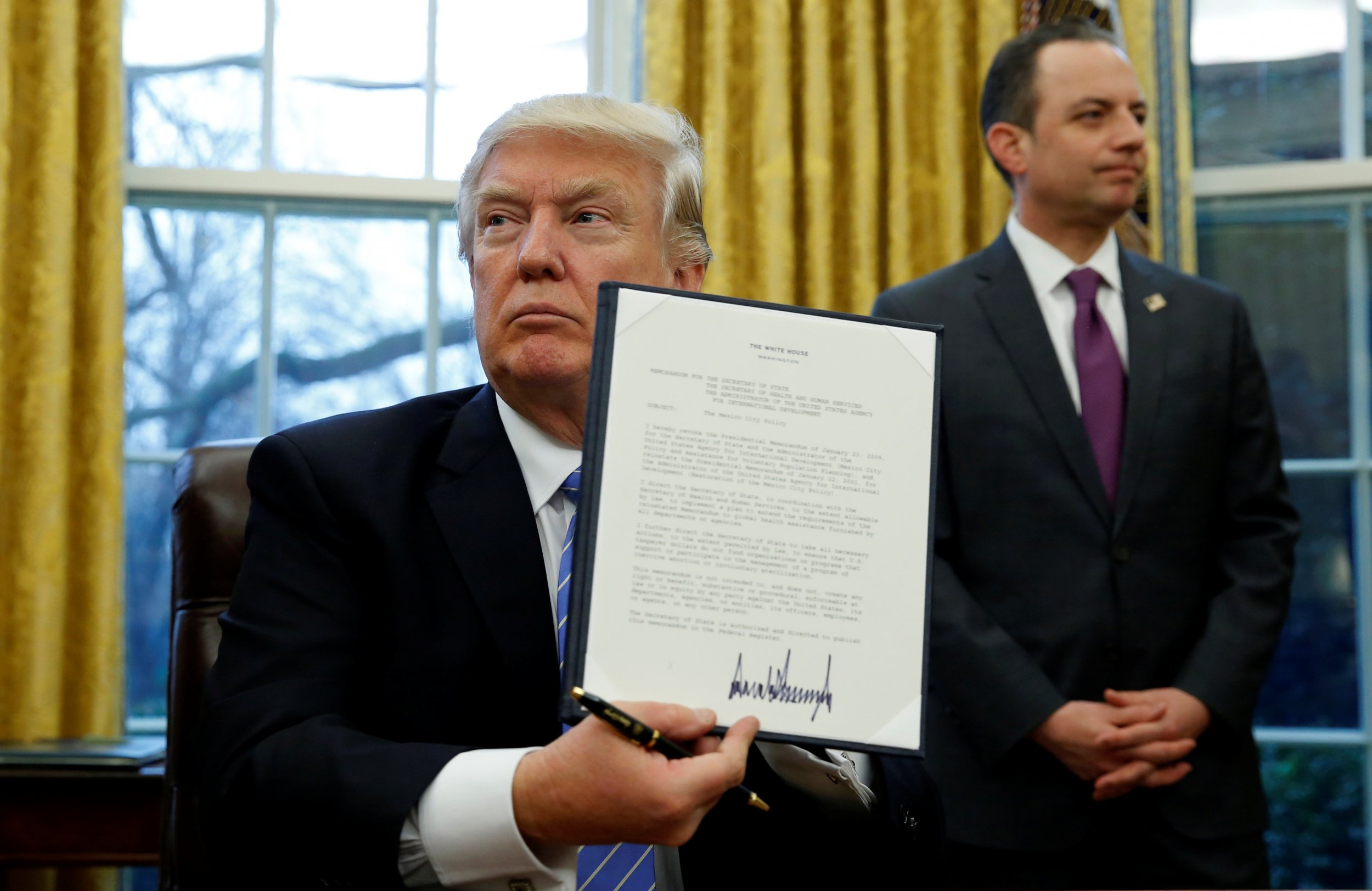 executive order global gag rule