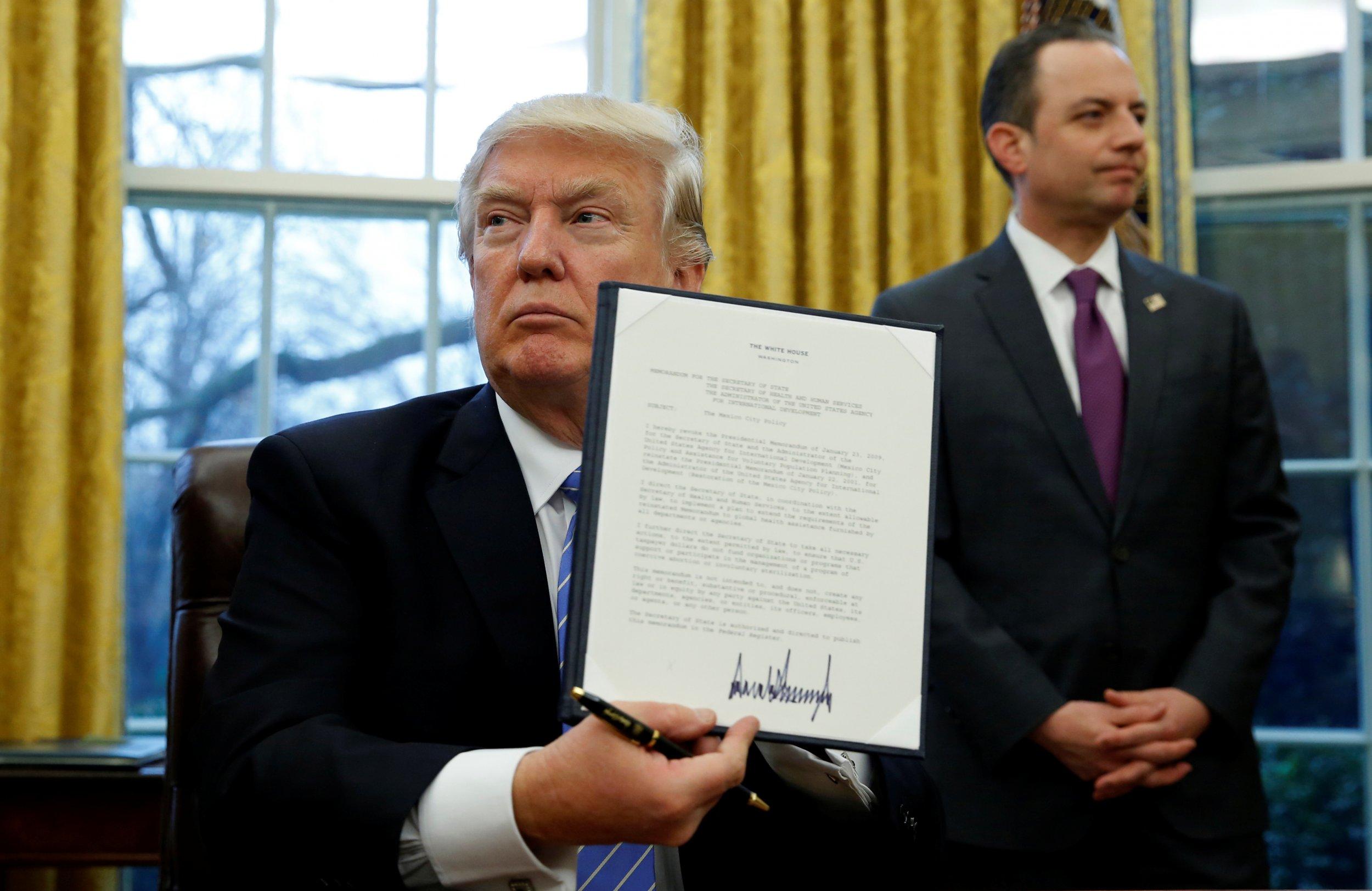 executive order global gag rule