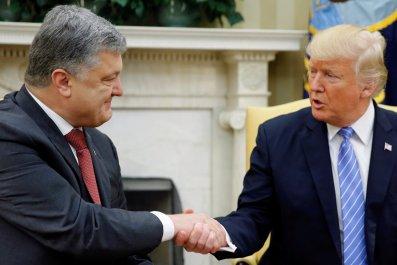 Trump and Poroshenko