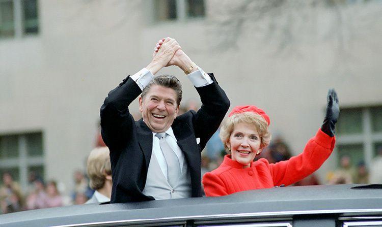 Ronald Reagan and his wife, Nancy Reagan