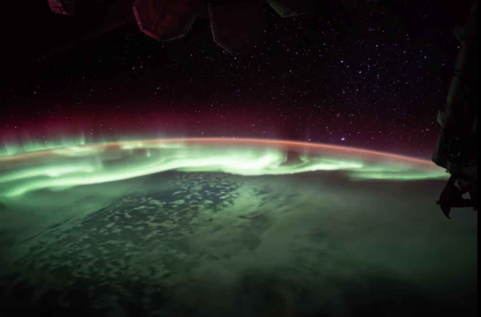 aurora australis from space