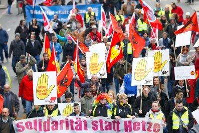 German pro-immigration protests